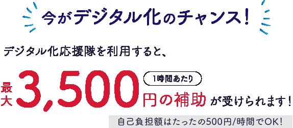 3500円の補助が受けられる